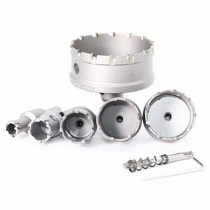 1PC 5A carburo punta TCT Drill Bit Hole Saw 62-75mm Drill Bit Cutter Saw Set Hole per acciaio inossidabile metallo della lega di perforazione Punte CVJP #