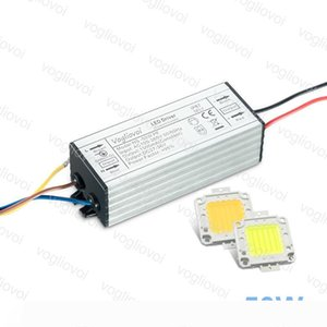 Lighting Transformers Full Power 50W 110V 220V Waterproof IP65 Aluminum Silvery With Cool White COB For Floodlight Spotlight Highbay DHL