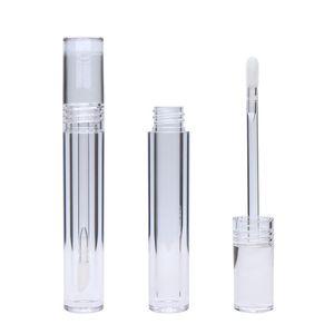 립글로스 튜브 5ML 립글로스 튜브 라운드 투명 립글로스 튜브와 지팡이 지우기 립스틱 립 글레이즈 튜브 도매 BC BH3877 비우기 비우기
