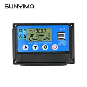 Consumer Electronics SUNYIM 50 12V 24V uto PWM Solar Charge Controller 40A 30A 20A 10A for Solar Panels Regulator Controller with Dual USB