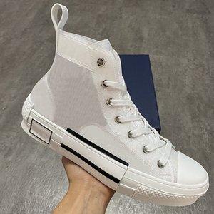 I più nuovi progettisti scarpe delle donne degli uomini High-top B23 scarpe da tennis della tela di canapa Oblique Trainer Moda Scarpe da corsa suola in gomma Scarpe Uomo EU45 con la scatola
