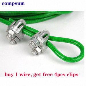 Color coated steel wire rope plastic coated rope orchard shelf clothesline free clip chuck Jag5#