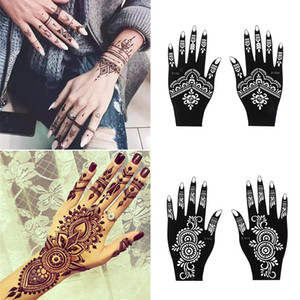 Fashion Henna Tattoo Stencil Temporary Hand Tattoos DIY Body Art Paint Sticker Template Indian Wedding Painting Kit Tools T200730