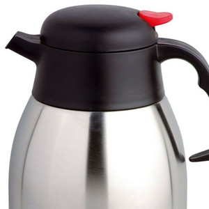 2L S S STEEL VACUUM KETTLE FLASK HOT COLD TEA COFFEE INSULATED DISPENSER AIR POT