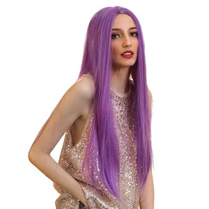 26\'\' Anime Women Lace Front Straight Middle Part Synthetic Comic Cosplay Wig