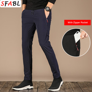 SFABL nueva marca pantalones casuales hombres delgadas para hombre Joggers clásicos pantalones pantalones rectos masculino Pista Pantalón transpirable pantalón hombre