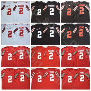 Ohio State Buckeyes Football College-2 Chase Junge Jersey Universität 2 J. K. Dobbins Schwarz Rot Weiß Breath Stickerei und Näherei Hot