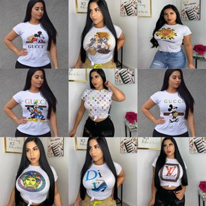 Lady carta de impressão O Neck T Shirt Summer Fashion Women T-shirt engraçado camisetas Harajuku manga curta T casual tops lovrly