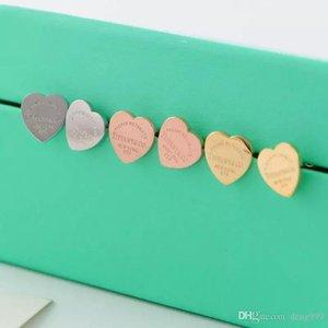 High Quality Trendy Design 316L Titanium steel stud Earring Luxurious Heart Shape Women Charm love Earrings Fashion Jewelry wholesale