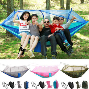 Hanging Camping Tents Swing Hanging Bed Mosquito Net Couch 4color Nylon Tent Set Lifts Tent Hammock Outdoors Travel