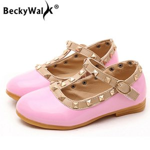 2020 New Girls Sandals Kids Leather Shoes Children Rivets Leisure Sneakers Hot Girls Princess Dance Shoes CSH134