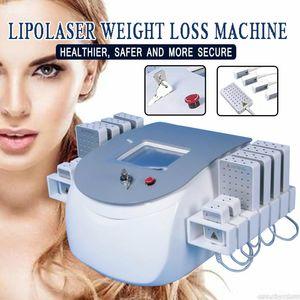 12 Pedler Non İnvaziv Lipo Işık LipolaseR zayıflama makinesi Yağ Yakma LipolaseR Machine ile Taşınabilir Lipo Lazer Makinesi 650nm 980nm