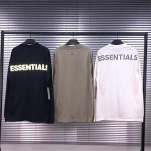 Светоотражающие T Shirt Мужчины Женщины с длинным рукавом Футболка Топ Tee 3colors