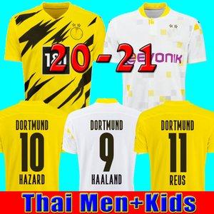 HAALAND REUS Borussia 20 21 dortmund futbol formaları 2020 2021 futbol forması 110 SANCHO REUS Hummels BRANDT erkekler + çocuklar kiti maillot DE AYAK