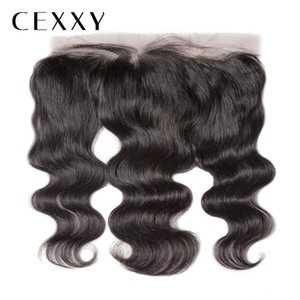 [CEXXY] OneCut Hair 13x4inch Body Wave 8-20inch Remy Hair Natural Color 13x4 Lace Frontal Human Hair Frontal Closure