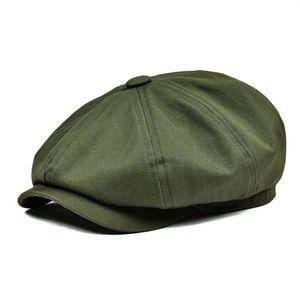 BOTVELA Newsboy Cap Men's Twill Cotton Hat Women's Baker Boy Caps Retro Big Headpiece Large Hats Cabbie Apple Beret 003 T200720