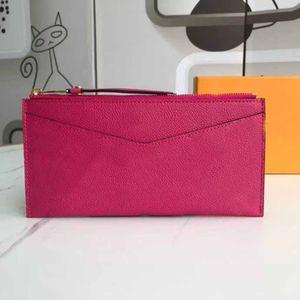 borsa all'ingrosso di qualità TOP borse Borsa in vera pelle di alta qualità frizione borse moda donna portafogli nella borsa con scatola e sacchetto di polvere 68712 20x10cm