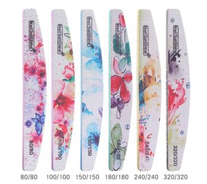 DHL Nail Tools Wholesale Flower Ps Nail Polish Rubbing Strip Nail Double-sided File Polishing Strip 6 Pack