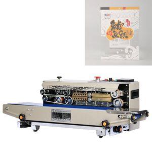 Ticari Plastik Poşet Sealer Paketi Makinası Sürekli Film Bant Sealer Yatay Isıtma Kapama Makinesi 220V Paketleme