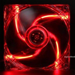 12CM computer chassis fan 4 lights LED lighting cooling fan ultra quiet transparent frame radiator fan