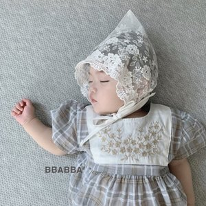 Korean baby Princess female baby hollow Air conditioning Tire cap tire cap embroidered hat spring and summer air conditioning hat