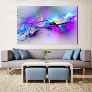 JQHYART Duvar Resimleri İçin Salon Özet Yağlıboya Resim Bulutlar Renkli Tuval Sanat Ev Dekorasyonu Çerçeve Yok SH190919