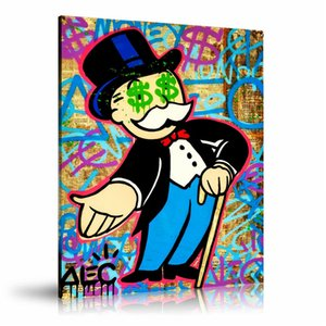 Alec Monopolys Раздайте Eyes HD Wall Art Холст Плакат Печать холст картины декоративные для офиса Living Room Home Decor