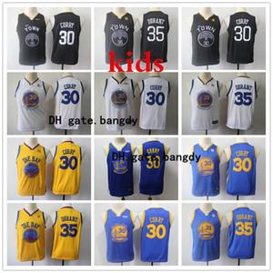 2020 Kinder Golden StateKriegerJersey Stephen Curry 30 Swingman Jersey nähte Jugend Stephen Curry Swingman Basketball Jersey