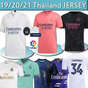 REAL MADRID jerseys 20 21 soccer jersey HAZARD SERGIO RAMOS 34 Campeones camiseta football shirt uniforms men + kids kit sets 2020 2021