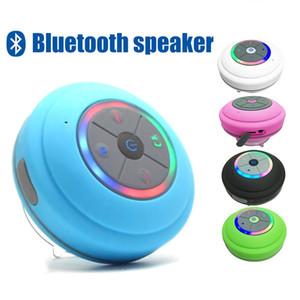 With LED Lamp HIFI Waterproof Bluetooth Speaker Wireless Bathroom Car Mobile Phone Speaker Support Hands-Free Data Card