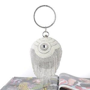 New evening Beaded Night Diamond bag handmade beaded yan hui bao spherical clutch women Diamond Bracelet