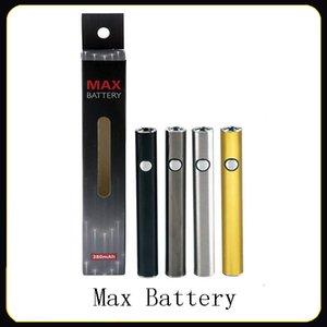 Autentica Amigo Max Preriscaldare batteria 380mAh tensione variabile VV Vape Mod Per 510 Thick olio Liberty V9 vaporizzatore cartucce serbatoio