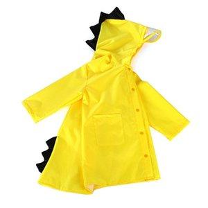 소년 소녀 비 소송에 대한 만화 공룡 디자인 어린이 비옷 바람 증거 방수 후드 레인 코트 범용