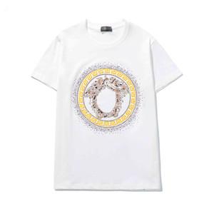 2020 Summer Top Men's Avatar Rhinestone T-Shirt Cotton O-Neck Short Sleeve Slim T-Shirt