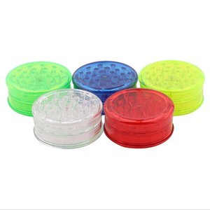 60mm 3 piece colorful plastic herb grinder for smoking pipe tobacco spice Crusher Miller grinder with 5 color display box cheap grinders