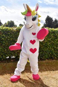 Unicorn Pony magic Adult Mascot Costume Horse mascot costume for Halloween Purim Party Clothing Fancy Dress
