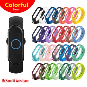 Pour Xiaomi Mi Band 5 Bracelet du bracelet montre étanche à puce montre-bracelet Sangle de remise en forme de remplacement en silicone Bracelet