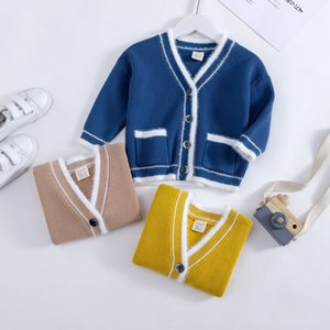 ins style Korean style cardigan men's and women's sweater cute solid color new clothing Children's Sweater children's clothing