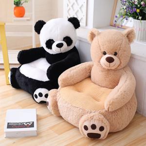 Assento 50 centímetros Macio Stuffed Bebê Plush Toy Panda Urso infantil Voltar Apoio Aprendizagem Sit segurança do bebê assento do sofá Kid presente MX200716