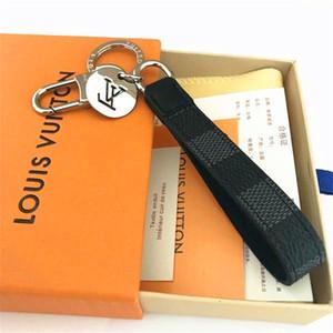 Art und Weise keychain unisex Schlüsselanhänger aus echtem Leder mit Edelstahl-Schlüsselanhänger mit schwarz / braun-1PC in Weißgold Schlüsselring