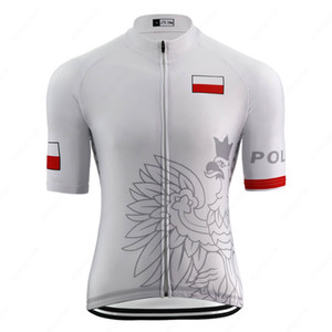 2020 poland national emblem pro team cycling jersey man road bicycle wear clothes high elasticity bike clothing triathlon jersey