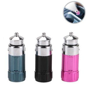 LED 미니 휴대용 랜턴 알루미늄 로터리 스위치 토치 내장 배터리 소켓 자동차 담배에 의해 라이터 충전