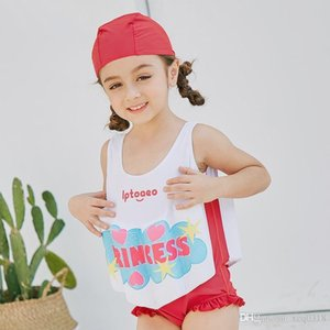 2019 Girls Buoyant Swimming Suits Children One-piece Swimwear Baby Life Saving Conjoined Vest Floating Swimsuit Rash Guard