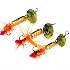 Chang Yu Lu Ya sequin faux Paillettes faux rotating1 / 4 oz-1 / crochet plume barbe 16 onces faux appât pseudo engins de pêche appât