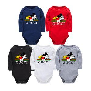 Yenidoğan bebek Uzun Kollu Tasarımcı etiket Bebek Tulumu Bebek Giyim erkek bebekleri kız jumpsuits 0-24cm giysi