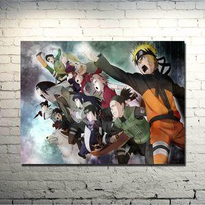 나루토 영화 예술 실크 포스터 벽 장식 044에 대한 13x18 24x32 인치 애니메이션 그림 Uzumaki 나루토 사스케 Kakashi