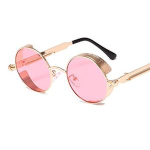 LELINTA Metall Sunglass Unisexsteampunk Sonnenbrille mit runden Gläsern und Weinlese-Brillen Mode-Klassiker Brille Punk Brille