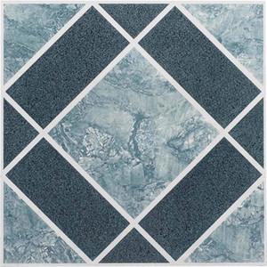 Piso de Vinilo Azulejos auto-adhesivo de la cáscara y el azul del palillo mejor cuarto de baño Suelo 20pc