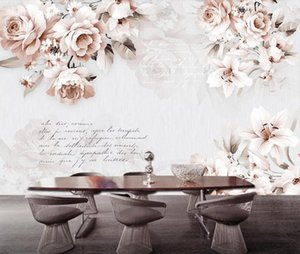 Vintage Lily Rose Flower Wallpaper 3D Wall Murals Home Wall Decor Canvas Print Art Floral Paper Contact Paper Custom