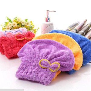 New Children Home Textile Microfiber Solid Hair Turban Quickly Dry Hair Hat Wrapped Towel 6 Colors Available Superfine Fiber fabrics